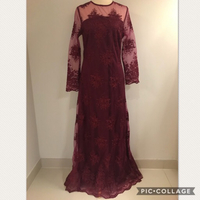 Maroon Evening Dress (Size M)