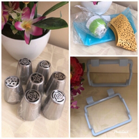 NEW Floral Icing Tips Set+Trash Hangers