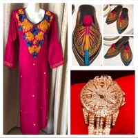 Used Long dress S & watch & sandals  in Dubai, UAE