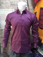 Used Shining Maroon Shirt - Size Large  in Dubai, UAE