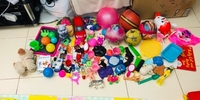 Assorted activity toys