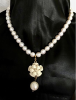 Used Pearl Necklace with Chanel rose in Dubai, UAE