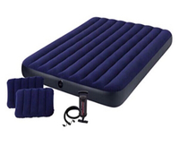 Used Intex mattress with 2 pillow in its box  in Dubai, UAE