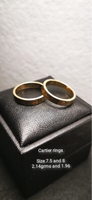 Cartier inspired couple ring