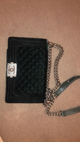 Used Chanel Green Velvet Bag MASTER in Dubai, UAE
