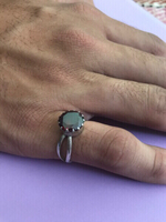 Pure Silver Ring with Zircon