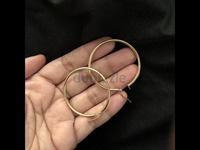 Used 18 k pure gold big hoops in Dubai, UAE