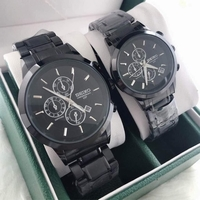 Used SEIKO COUPLES WATCH BLACK  in Dubai, UAE
