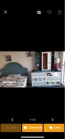 Used Bed + dressing table + side table (3) in Dubai, UAE