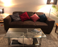 Used Chocolate suede sofa in Dubai, UAE