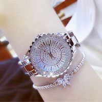 Ladies silver watch with free bracelet