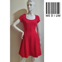 Used Red dress-medium size---stretchable in Dubai, UAE
