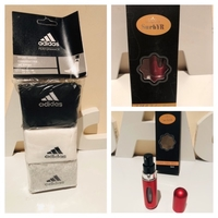 Used Adidas socks & refillable perfume spray  in Dubai, UAE