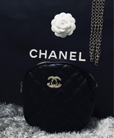 Used Chanel round messenger black in Dubai, UAE