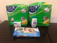 Used Finebaby diapers,baby bar &lotion,wipes  in Dubai, UAE