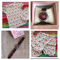 Used Mothercare Girl Shirt+Short & watch free in Dubai, UAE