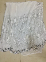 Used White Saree with crystal work  in Dubai, UAE