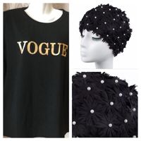 Used Swim cap and VOGUE T-Shirt 4XL in Dubai, UAE