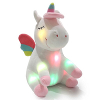 New Glowing unicorn stuffed animal