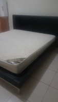 Used Bed king size with mattress home center  in Dubai, UAE