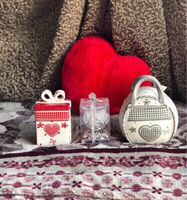 Used New Red & Grey Ceramic jars & a candle  in Dubai, UAE