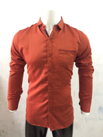 Used Orange Shirt for Men - Size Medium  in Dubai, UAE