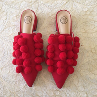 Used Red PomPom Slip-On  in Dubai, UAE