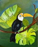 Used Bird Acrylic Canvas Painting in Dubai, UAE