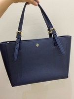 Used authentic Tory Burch navy blue tote bag in Dubai, UAE