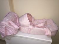 Baby carrycot and baby bag
