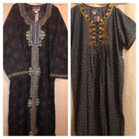 2 dresses embroidered size XL