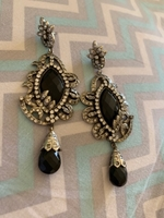 Used Earrings - black and silver in Dubai, UAE