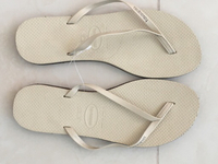 Used New Leather Havianas- original  in Dubai, UAE