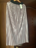 Used Pleated maxi skirt fits up to L lilac  in Dubai, UAE