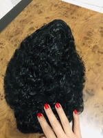Used Attractive black wavy curly WIG ❤️ in Dubai, UAE