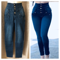 Used  Jeans hight waist size L in Dubai, UAE