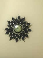 Used Wall clock black with stone in Dubai, UAE