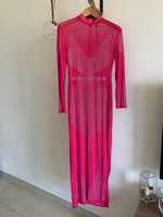Used Pink beach wear Dress with pants  in Dubai, UAE