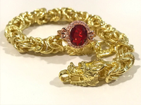 Used NEW Dragon Bracelet & Ruby Gold Ring in Dubai, UAE