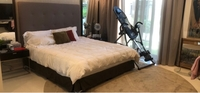 Used Brand new never used Queen bed with mat in Dubai, UAE