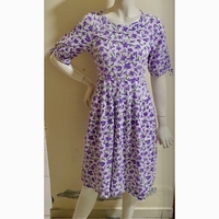 Used Purple floral dress;small size; in Dubai, UAE