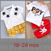 Used Boy Print/ Star Patches & Shorts  in Dubai, UAE