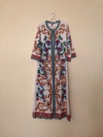 Used NEW Ladies Long Dress with Belt LARGE in Dubai, UAE