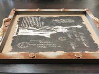 Used Statue of Liberty Wooden Tray in Dubai, UAE