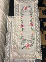Used Embroidered Linen tablecloth small  in Dubai, UAE