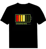 LED ACTIVATED T SHIRT/ 3XL