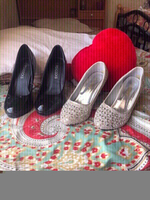 Used Peacock High heels &silver crystal heels in Dubai, UAE