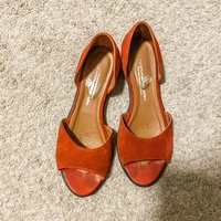 Used Suede leather red shoes, 37 size in Dubai, UAE