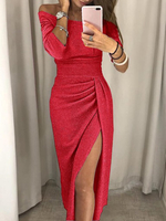 Used Red Glittered Dress/ medium  in Dubai, UAE