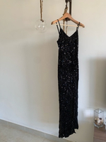 Used VINTAGE Gatsby style sequin black gown in Dubai, UAE